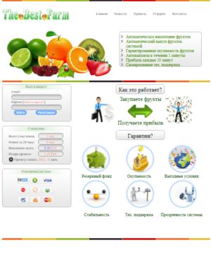 Сайт, Экономическая игра Ферма (html+css).  №21